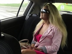 Perfect ass amateur fucks in fake taxi in public