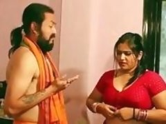 Medicine man treats the chubby Indian Milf by kissing her