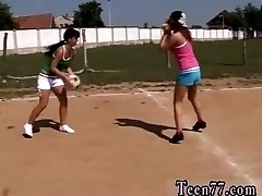 So hot teen first time Sporty teens gobbling each other