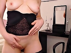 french red girl undresses and masturbates - vends-ta-culotte