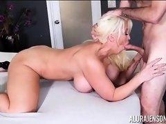 Buxom Blonde Alura Jenson Sucks and Fucks Stuf Jake Adams