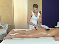 Lesbian masseuse knows how to relax all body parts