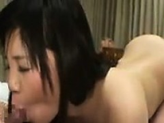Buxom Japanese chick indulges in wild sex action with her h