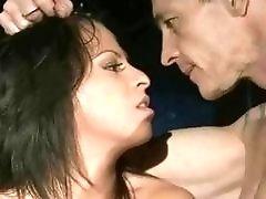 Buxom bondage slave gets toyed and fingered by master BDSM