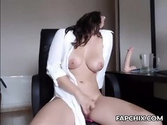 Charmy Big Tits Chick Plays With Her Sweet Vagina