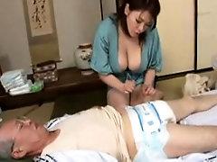 Busty whore mina smoking fetish handjob
