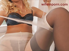Nylon Mania With Dirty Milf Vicky.....