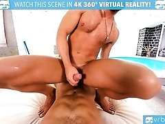 VRBGay.com Hot Stud Logan Moore fucking at the pool side