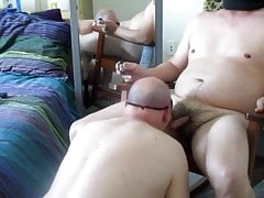 Feeding Frenzy Extracts Two Nutts From My Str8 Master.