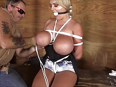 katie thornton suffers so nice in reverse bound breasts