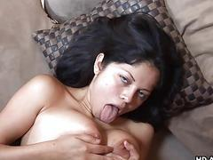 Busty Latina gets her pussy rammed