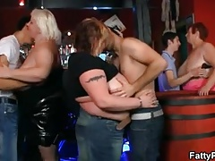 Three bbw wanna have fun in the bar