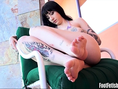 Charlotte Sartre Foot Fetish Living Photos