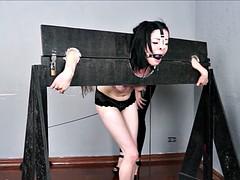 Ruthless brazilian bdsm and lesbian spanking