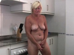 Granny loves masturbating outside the bedroom