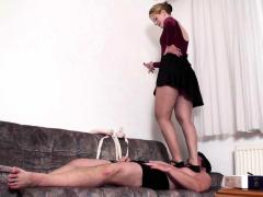 Dominant Ladies use slaves as footmat