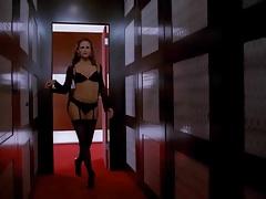 Jennifer Garner - Black lingerie and Reb Bra