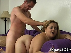 Ebony lad fucks fat awesome girl
