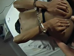 big cock big tits blowjob and anal lboy to fuck in handcuffs