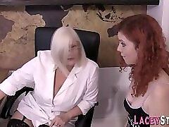 Granny Loves Teen Pussy