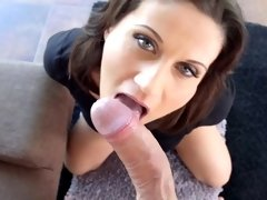 Madlin Moon in gonzo creampie sex scene by All Interna