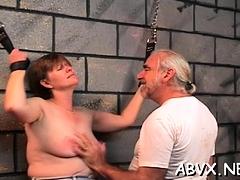 Big ass older moments of rough amateur slavery