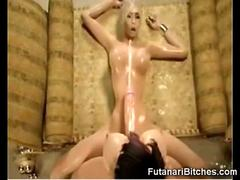 3D Futanari Monster Cumshot on Girl!
