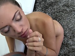 Tasty chick gives an awesome POV blowjob