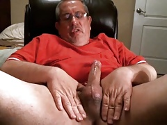 Daddy with Red Shirt Wank