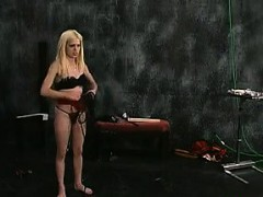 Blonde Slave Swinging