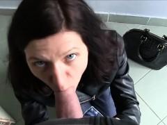 Sexy tourist Arian Joy rides a big dick inside the car