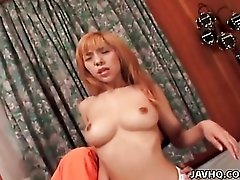 Fingered and fucked Japanese girl sucks a dick