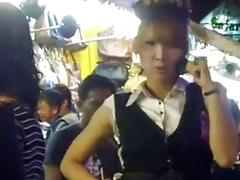 Ladyboys do some partying in the night