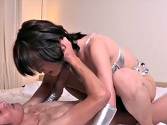 Japanese lboy dominates guy with anal