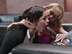 alina lopez and cherie deville suck isiah maxwell's big shaft