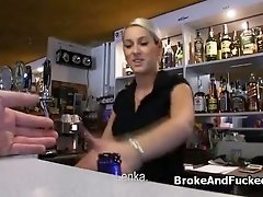 Fucking amateur big tit waitress at work