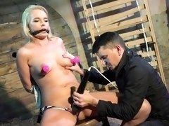 Bound sub orgasms while bound by maledom