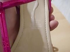 Fuck her pink summer sandals