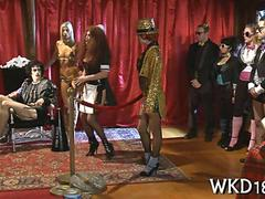 Rocky horror picture show turns into an orgy in parody