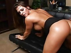 2 busty brunette secretary riding ther boss pecker
