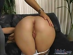 Olivia gobbles down cock