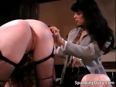 Hot brunette slut gets her big sexy butt part2