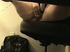 BBWMISSY masterbating under desk watching porn