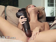 Brutal vibrator trying to get inside