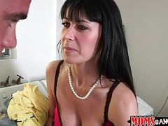 Teen and MILF stepmom share a good cock