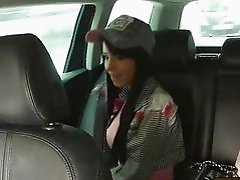 Sexy Jessika fucked for her taxi fare