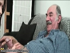 He is old but his cock is huge and ready