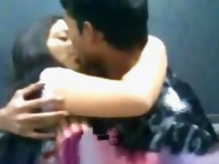 Pakistani Girl Kissing With Boy Friend in College